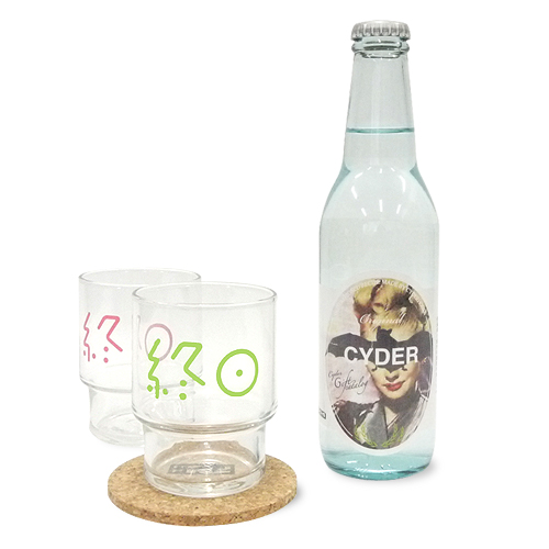 CiDER x CyDER 夏の終日セット(終日麦酒グラス2色セットとCYDERHOUSEのサイダー&コースター) セット1