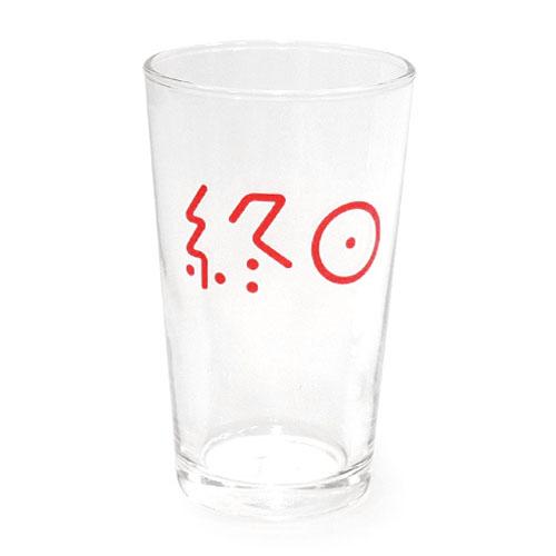 終日麦酒グラス(あの海のブルー感と今日のはやけに赤い夕焼けセット) 今日のはやけに赤い夕焼け