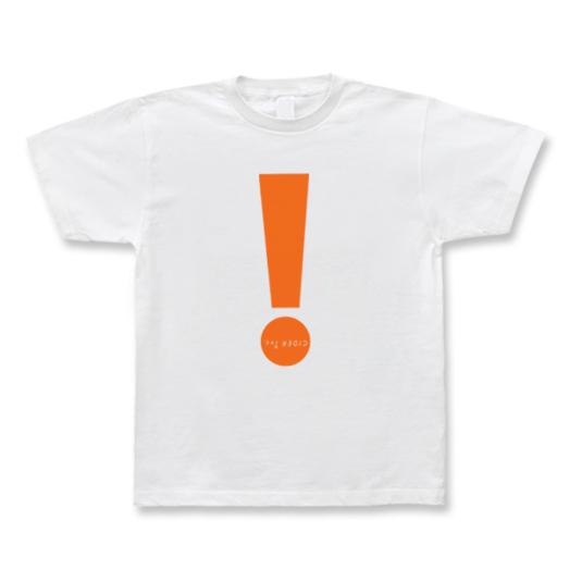 CIDER inc. Tシャツ「!」 蛍光オレンジ