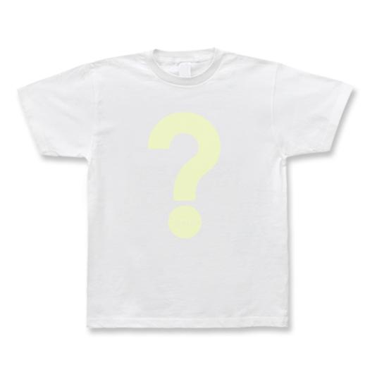 CIDER inc. Tシャツ「?」 イエロー(極薄)