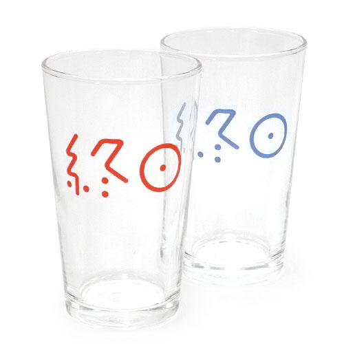 終日麦酒グラス(あの海のブルー感と今日のはやけに赤い夕焼けセット) セット